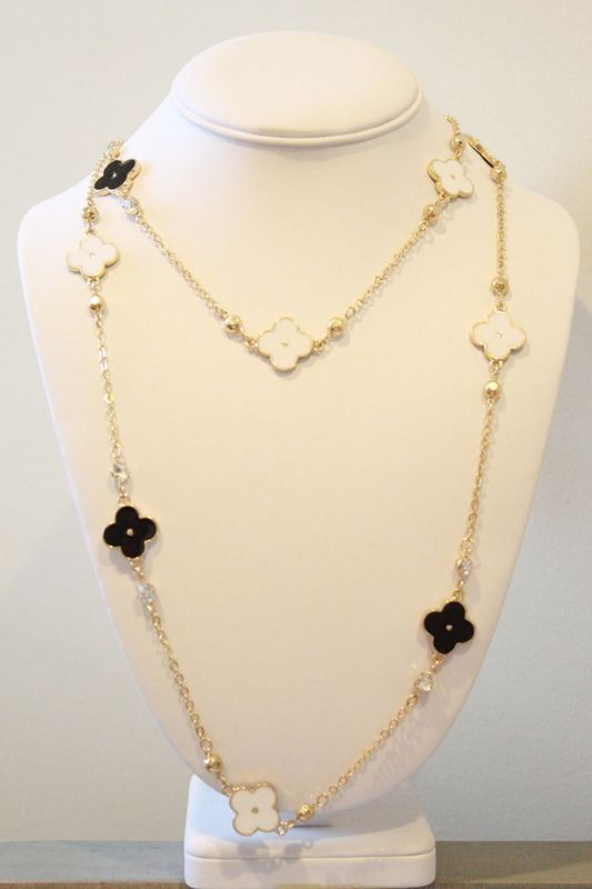 Brand-new Long Clover Necklace - Molly Suzanne WD89