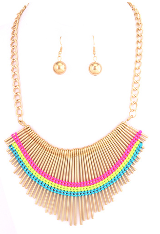 Neon,Bib,Necklace