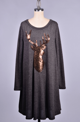 Sequin,Reindeer,Dress