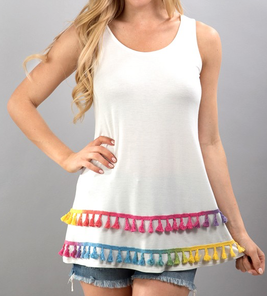 Tassel Tank (Multi) - product images  of