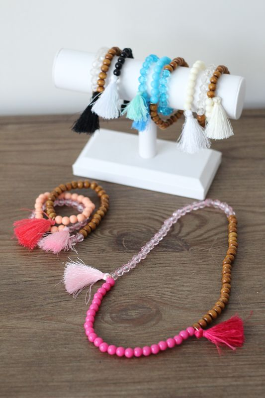 Bead and Tassel Bracelet - product images  of