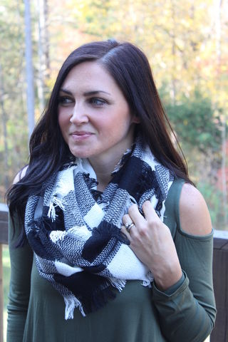 Buffalo,Plaid,Infinity,Scarf