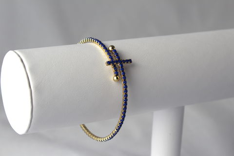Sideways,Cross,Wrap,Bracelet