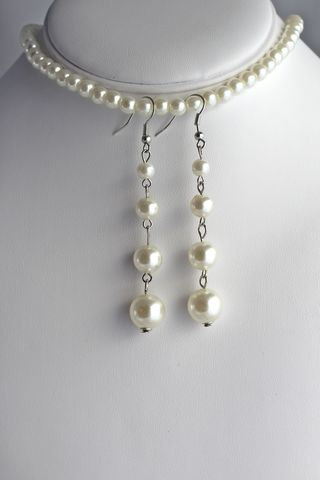 Pearl,Drop,Earrings,(Was,$12,,now,$8)