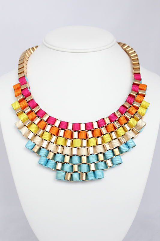 Rainbow Bib Necklace (Was $27, now $15) - product images