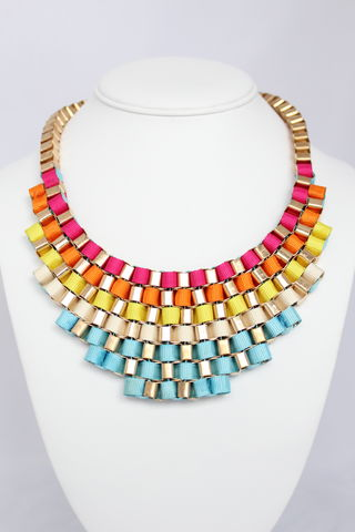 Rainbow,Bib,Necklace,(Was,$27,,now,$15)