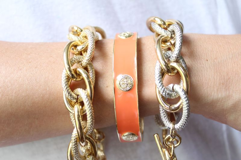 Coral Emblem Bangle    - product images  of