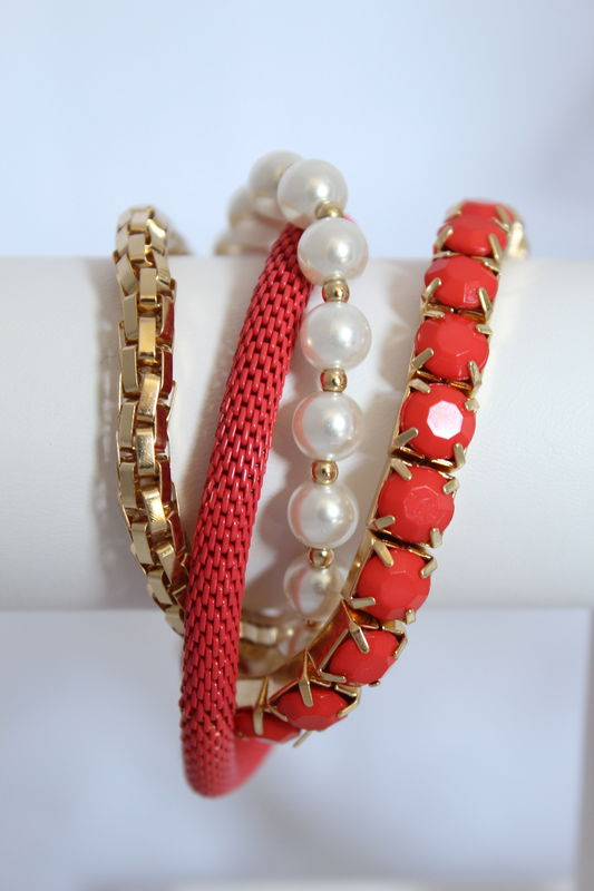 Coral Pearl Bracelet   - product images  of