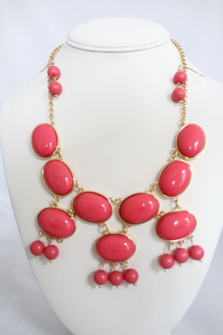 Fringe,Bauble,Set,-,Pink