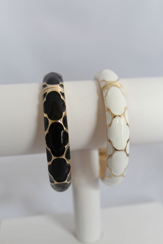 Patterned Enamel Bangle - product images  of