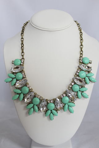 Maggie,Necklace,-,Mint