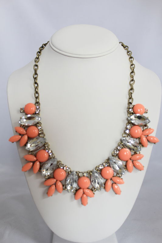Maggie Necklace - Coral   - product images