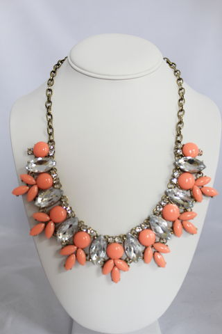 Maggie,Necklace,-,Coral