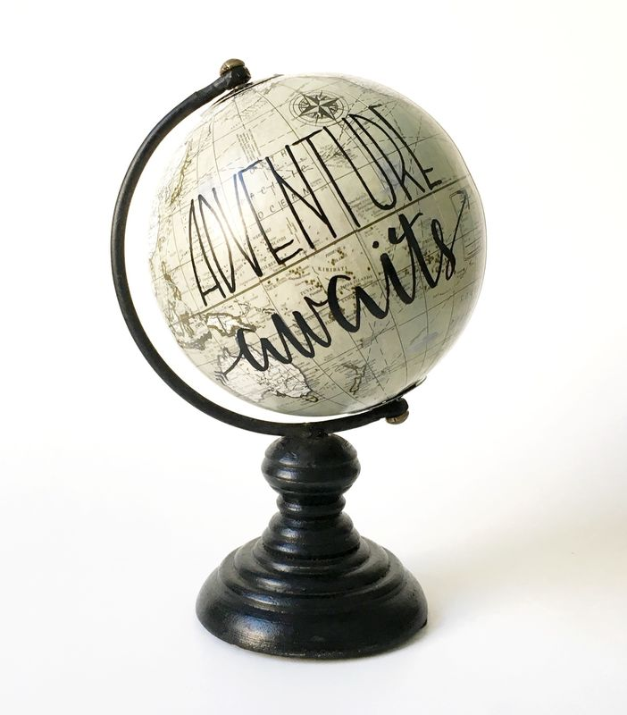 Calligraphy Globe Adventure Awaits - product images  of