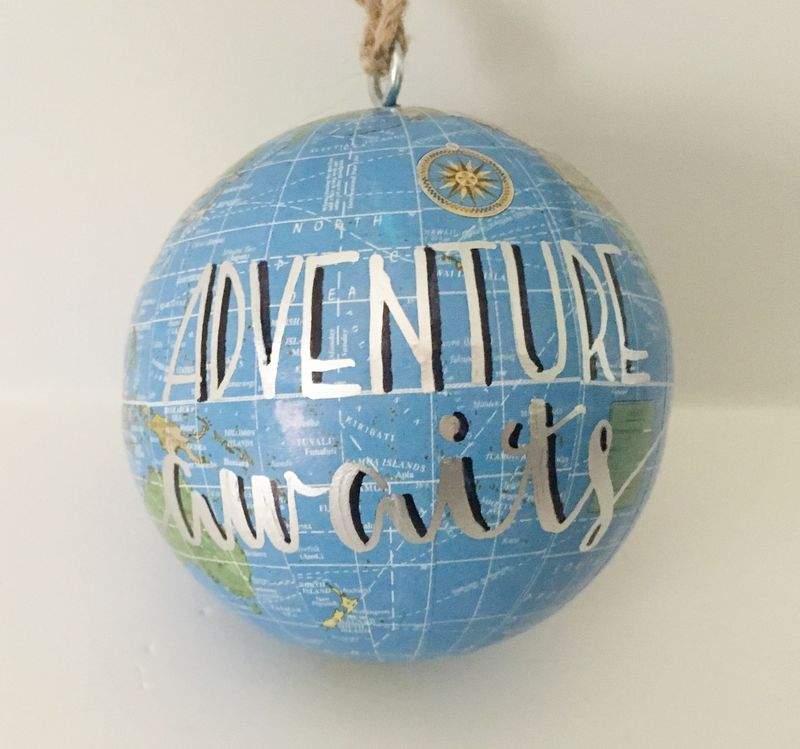 Hanging Globe Ornament Adventure Awaits - product images  of