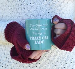 Crazy,Cat,Lady,Mug,cat mug, teal mug, office mug, ceramic mug, coffee mug, crazy cat lady