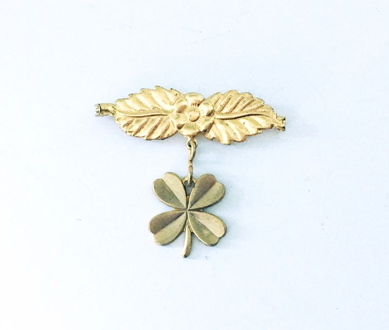 Shamrock Charm Lapel Pin - product images  of