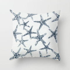 Starfish,Pillow,Cover,Pillow cover, nautical pillows, starfish pillows, navy pillows, cottage decor, throw pillows, toss pillows, decorative pillow covers