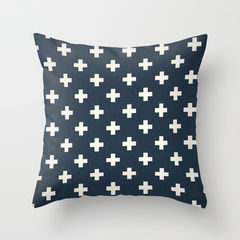Swiss,Cross,Pillow,Cover,Pillow cover, nautical pillows, swiss cross pillows, navy pillows, cottage decor, throw pillows, toss pillows, decorative pillow covers