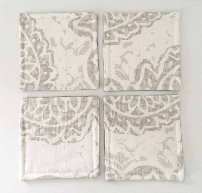 Fabric Coasters Reversible Coastal - product images  of