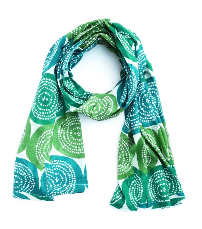 Silk Screened Cotton Scarf - product images  of