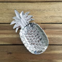 Silver,Pineapple,Tray,pineapple tray, pineapple dish, metal pineapple tray, hawaiian decor, luau decor
