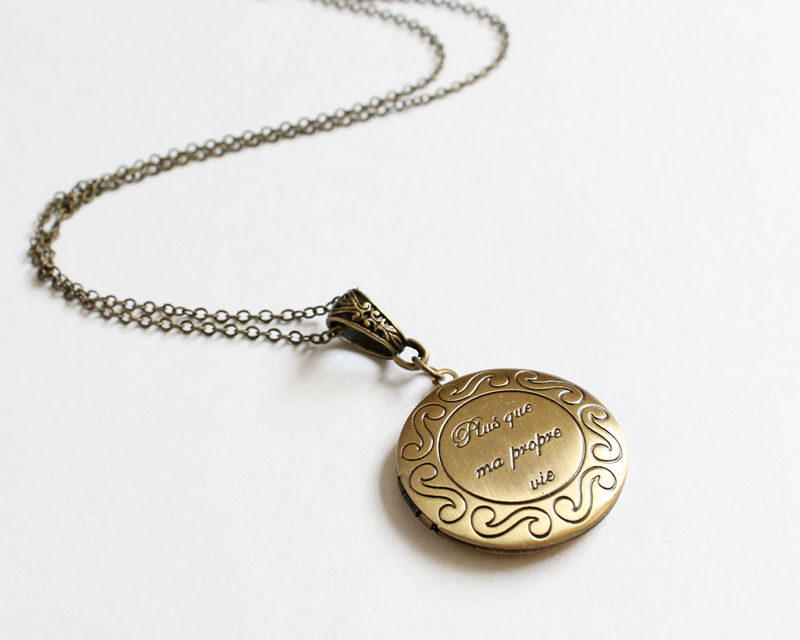 Plus que ma propre vie (more than my own life) locket necklace - product images  of