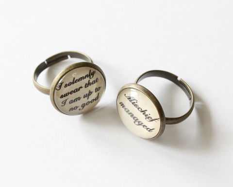 Solemnly Swear / Mischief Managed Ring - product images  of
