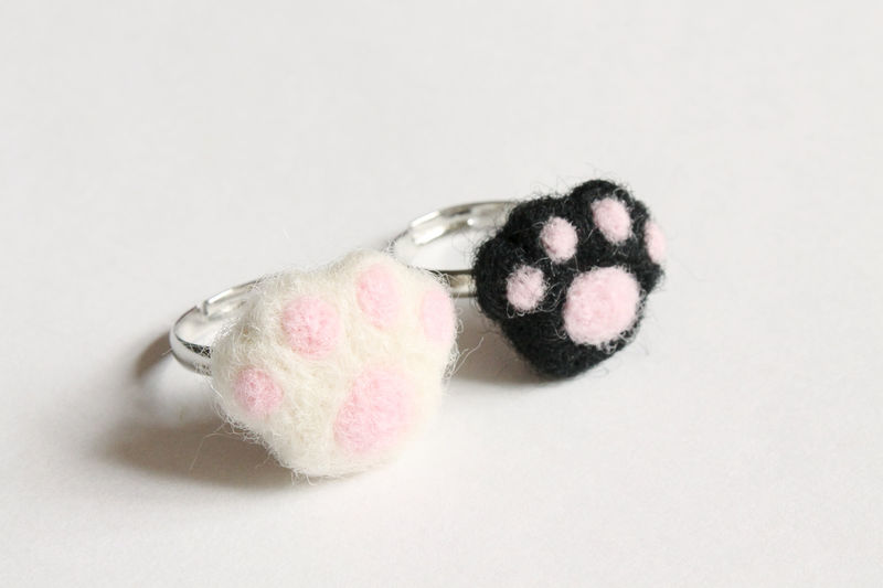 Wool Felted Paw Ring - product images  of