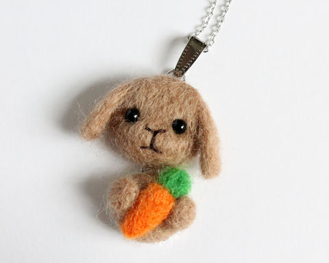 Needle,Felted,Brown,Lop,Bunny,necklace,or,brooch,ring,shawl,pin,(Made,to,order),brown lop bunny necklace, brown rabbit, lop bunny ring, lop bunny shawl pin, lop bunny brooch, brown rabbit necklace, poodle necklace, brown poodle necklace