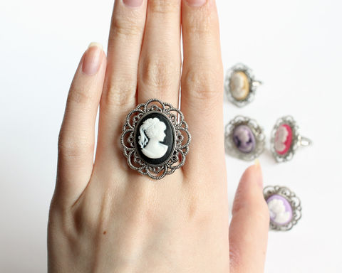 Mini Cameo Ring (various colors) - product images  of