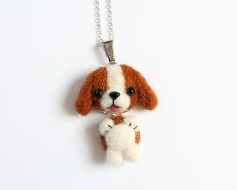 Needle,Felted,Beagle,Dog,necklace,or,brooch,ring,shawl,pin,needle felted beagle, needle felted dog, beagle necklace, dog necklace, puppy necklace, brown dog necklace, needle felted puppy, wool felted beagle, wool felted dog, dog ring, dog pin, beagle pin