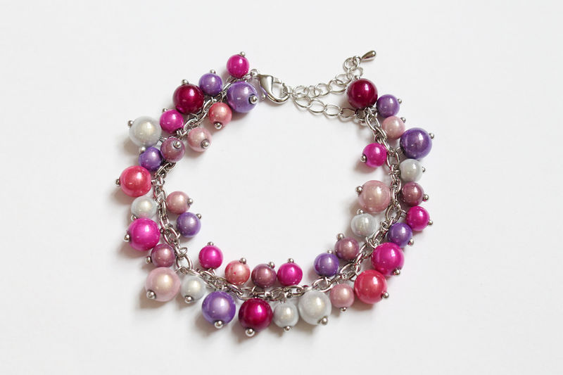 Pink Purple White Bracelet - product images  of