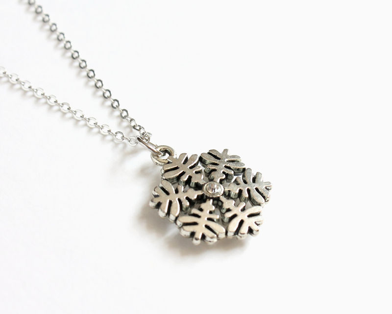 Anna's Snowflake Necklace with rhinestone (OUAT) - product images  of