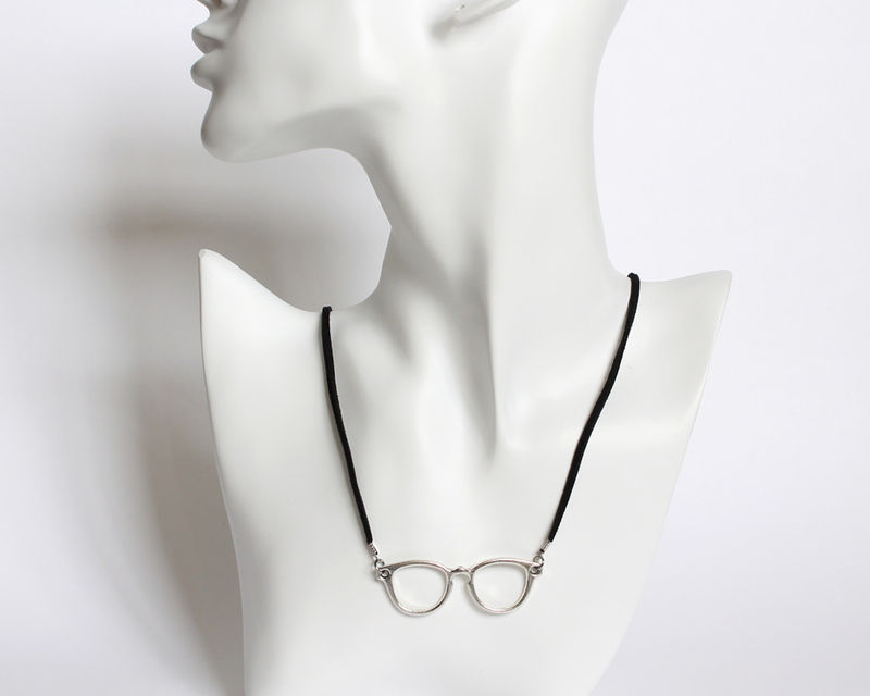 Silver Glasses Necklace - product images  of