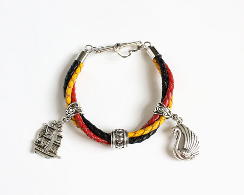 Captain,Swan,Leather,Bracelet,(OUAT),captain swan bracelet, once upon a time bracelet, ouat bracelet, ouat captain hook, leather bracelet, ouat leather bracelet, leather bracelet with charm, emma swan bracelet, emma hook bracelet, once upon a time hook