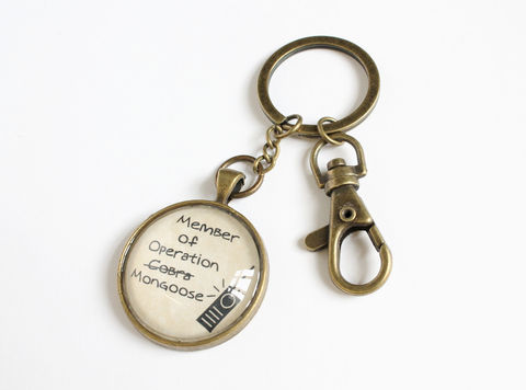 Operation,Mongoose,Key,Chain,(OUAT),operation cobra key chain, once upon a time key chain, ouat key chain, henry operation cobra, once upon a time operation mongoose, operation mongoose key chain, once upon a time storybook