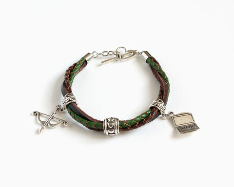 Olicity,Leather,Bracelet,(Arrow),arrow bracelet, arrow tv bracelet, arrow olicity bracelet, olicity jewelry, green arrow tv jewelry, arrow jewelry, arrow oliver, arrow felicity, leather bracelet, braided leather bracelet