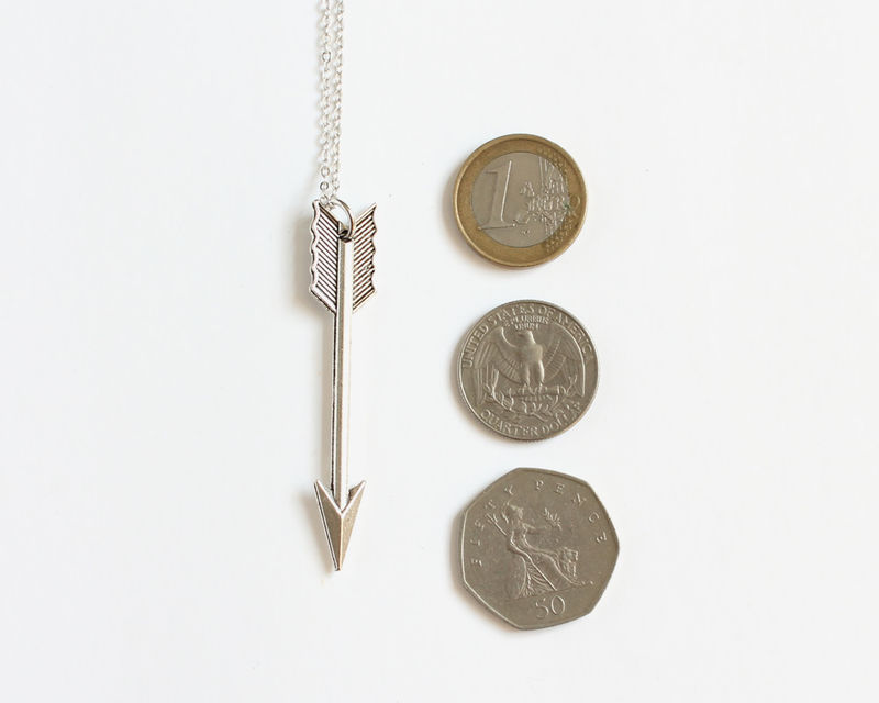 Large Silver Arrow Necklace - product images  of