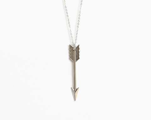 Large,Silver,Arrow,Necklace,silver arrow necklace, large arrow necklace, large silver arrow necklace, silver arrow pendant, long arrow necklace