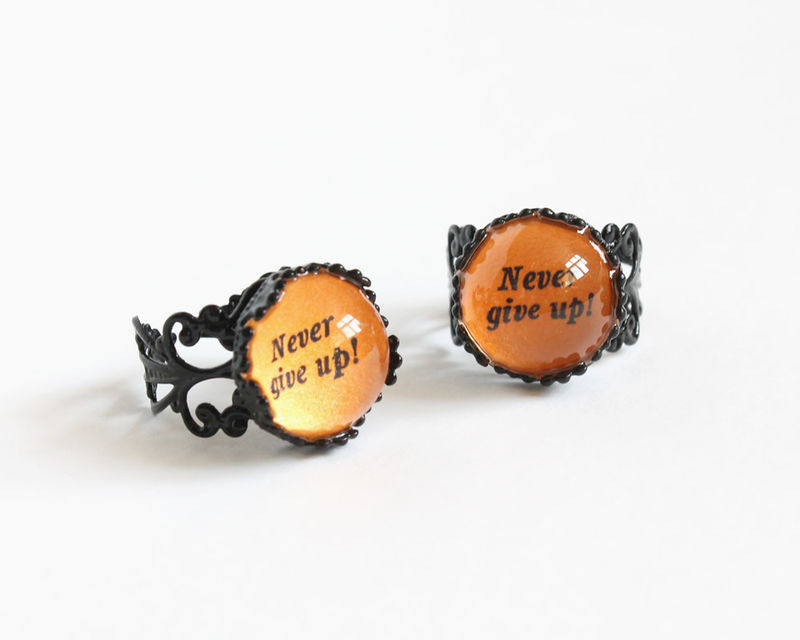Never give up ring - product images  of