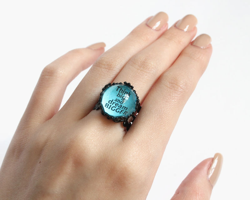 Think big and dream bigger ring - product images  of