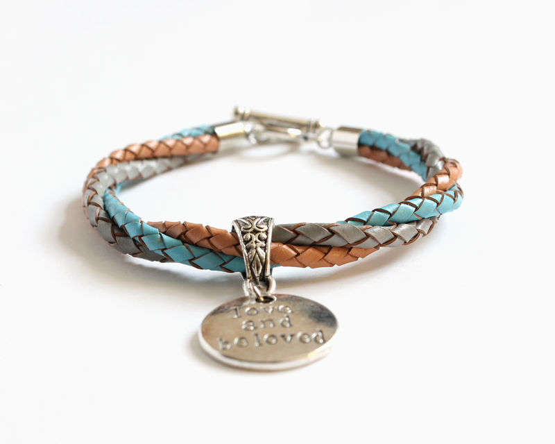 Love and Beloved Leather Charm Bracelet - product images  of