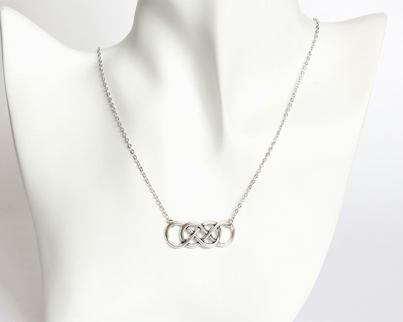 Double Infinity Necklace - product images  of