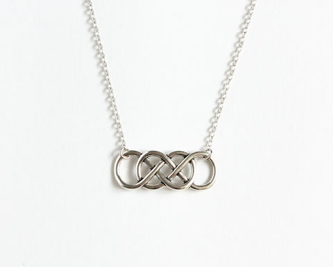 Double,Infinity,Necklace,double infinity necklace, double infinity symbol necklace, silver double infinity necklace, silver infinity necklace, revenge necklace, revenge emily necklace, forever necklace, endless symbol necklace, lemniscate necklace