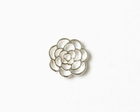 Flower,Plate,for,Floating,Locket,(Memory,Locket),floating charm, flower plate, floating plate charm, silver flower plate, flower floating plate