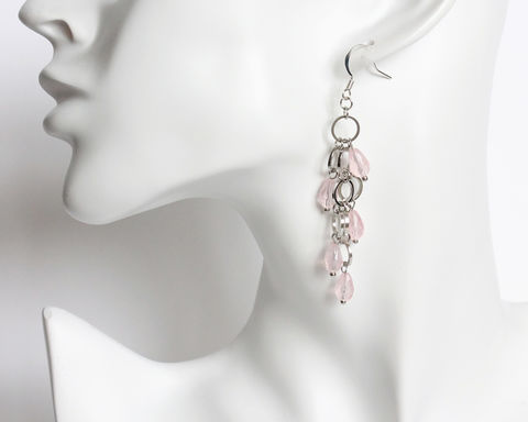 Mini,silver,hoops,with,teardrop,white,or,pink,beads,earrings,mini silver hoops earrings, mini hoops earrings, small hoops earrings, silver hoops with white beads earrings, small circles and white beads earrings, arrow felicity earrings
