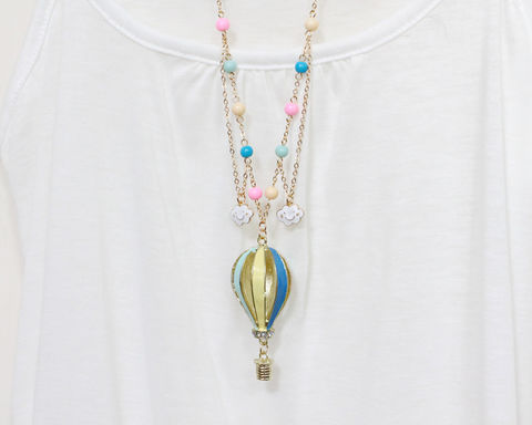 Hot Air Balloon Long Necklace (Clearance, last one) - product images  of