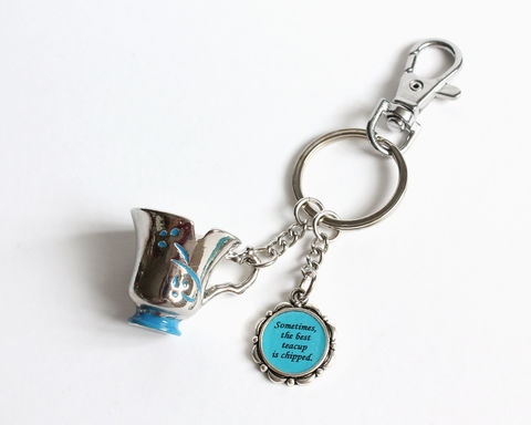 Chipped,Cup,Best,Teacup,Key,Chain,(OUAT),chipped cup key chain, best teacup is chipped, belle key chain, ouat belle key chain, ouat key chain, once upon a time belle, once upon a time chipped cup, rumbelle key chain