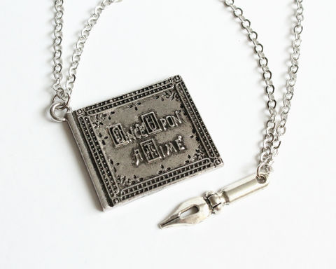 Once Upon A Time Book and Author's Pen Long Necklace (OUAT) - product images  of
